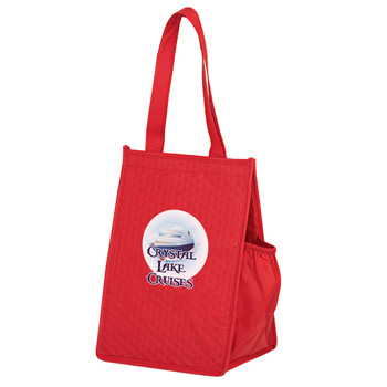 "Insulated Non-Woven Lunch Tote w/Insert and Full Color (8""x7""x12"") - Color Evolution"