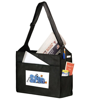"Essential Side Pocket Non-Woven Tote Bag w/Insert and Full Color (16""x6""x14"") - Color Evolution"