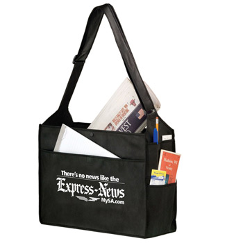 "Essential Side Pocket Non-Woven Tote Bag w/Insert (16""X6""X14"") - Screen Print"