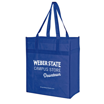 "Heavy Duty Non-Woven Grocery Tote Bag w/Insert (13""x10""x15"") - Screen Print"
