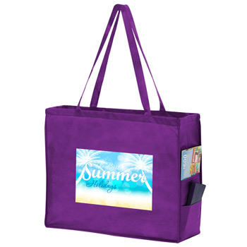 "Side Pocket Non-Woven Tote Bag w/Full Color (20""x6""x16"") - Color Evolution"